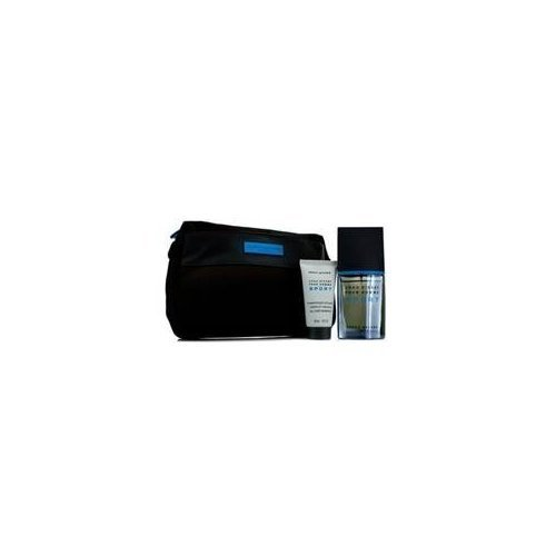 Issey Miyake L'eau D'issey Pour Homme Sport Coffret: Edt Spray 50ml/1.6oz + All Over Shampoo 50ml/1.6oz + Bag For Men 2 (Set Ii Fragrance Pour Homme)