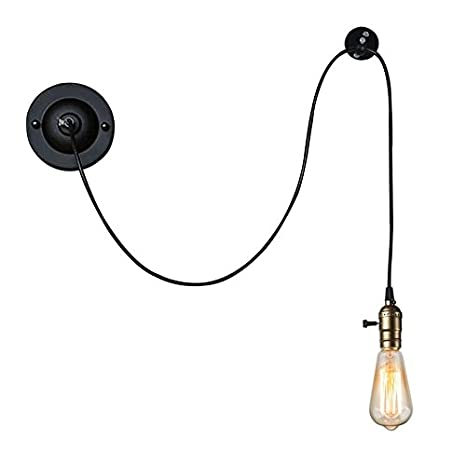 Murale Noir Lampe Lwyjrbd Muraleindustriel Applique E27 Fer Fil f6gY7bmIyv