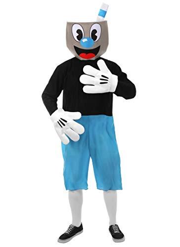 elope Mugman Cosplay Basic Costume S/M forAdults Blue]()