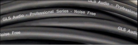 GLS Audio 12ft Patch Cable Cords - 1/4'' TS To 1/4'' TS Black Cables - 12' Mono Snake Cord - 6 PACK by GLS Audio (Image #1)