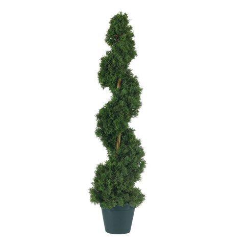 Wholesale 3 Ft Cedar Spiral Silk Tree In-door/Out-door) , [Decor, Silk -