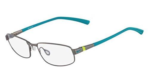 6056 Eyeglasses - NIKE Eyeglasses 6056 064 Gunmetal/Turbo Green 56MM