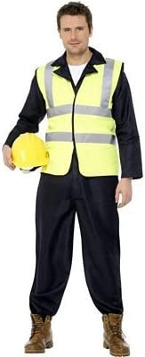 Builders BULIDERS HI-VIS VEST/JUMPSUIT FANCY DRESS COSTUME - M ...