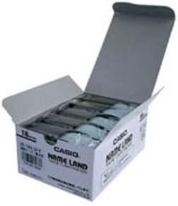 (業務用5セット) カシオ計算機(CASIO) テープ XR-18X-5P-E 透明に黒文字 18m