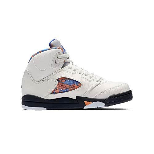 Jordan Boys 5 Retro PS Basketball Shoes White 13.5 Medium (D) Little Kid (Jordan Retro 13 Infant Shoes)