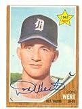 Don Wert autographed Baseball Card (Detroit Tigers) 1962 Topps #299 (67)