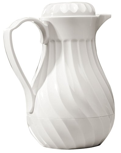 Miles Kimball 20 oz White Insulated Coffee Carafe / Pitcher ()