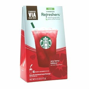 Starbucks VIA Refreshers Very Berry Hibiscus (3 Pack/boxes) 18 Packets Total