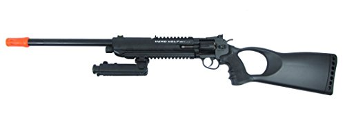 wg model-4711l 6mm co2 revolver rifle w/bi-pod&laser&loader(Airsoft Gun) (Best Airsoft Sniper Rifle For The Money)