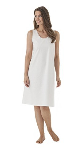 Velrose Cotton Full Slips White Style 801 (42)
