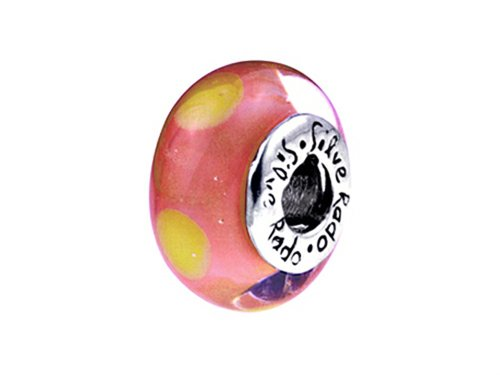 SilveRado Murano Glass Sienna Bead / Charm (Bead Charm Silverado)