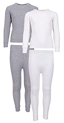 Sweet & Sassy Girl's 2-Pack Thermal Warm Underwear Top and Pant Set