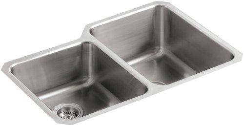 KOHLER K-3177-L-NA Undertone Large/Medium Undercounter Kitchen Sink, Stainless Steel