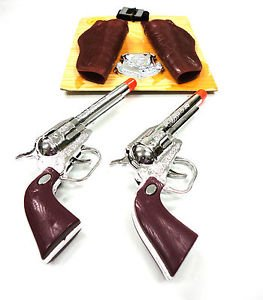 Western Cowboy Clicker Hand Gun Toy Play Set Pistol Holster Sheriff Badge Boy - Pakistan Lahore Pictures