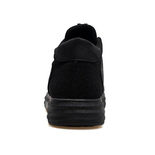 Sneakers Plat Antidérapage Basket Homme de Cuir Mesh 44 pour 39 Chaussure Noir Ville Skate Tennis Mode board 7tqBFwR