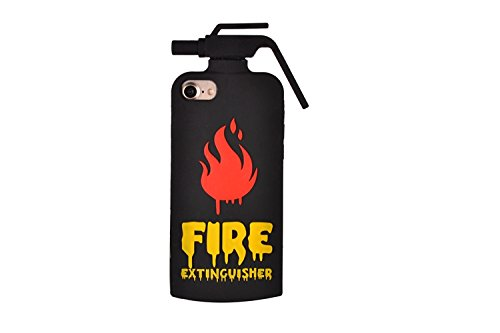 """CASESOPHY 3D Cool Hot Fire Extinguisher Case for iPhone 7 iPhone7 Regular 4.7"""" Screen Soft Silicone Rubber Material Ultra Thick Protective Cute Gift for Kids Boys Men Guys Adults"""