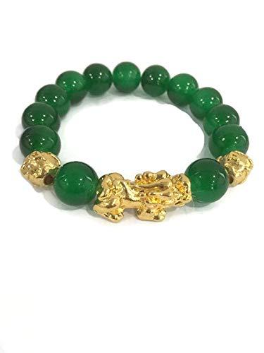 Lucky Bracelet Feng Shui Pi Yao or Pi Xiu Jade Stone for Women or Men ()