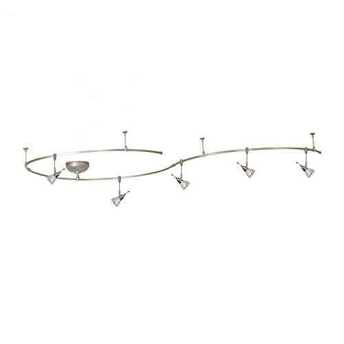 WAC Lighting LM-K8811-WT/BN Middleton 5 Light Fixture Bendable Solorail Kit, One Size, White/Brushed Nickel (Bendable Track Kit)