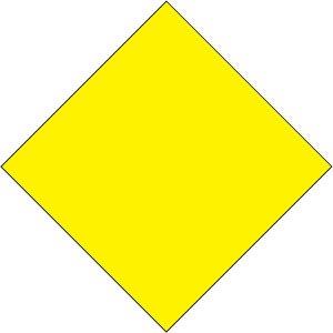 Amazon.com : 2'x2' Diamond Shaped Yellow Sign Blanks Set ...