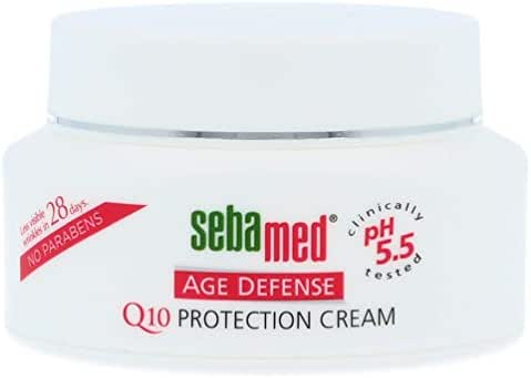 Sebamed Q10 Face and Neck Age Defense Q10 Protection Cream pH 5.5 Reduces Wrinkles and Fine Lines Anti-Aging Moisturizer 1.68 Fluid Ounces (50 Milliliters)