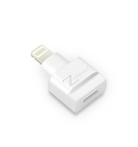 Lightning Extender Adapter, Cellularize (White, 1 Pack) 8 Pin Dock Extender for Lifeproof Otterbox Cases, Male to 8 Pin Female Charger Adapter for iPhone 5, 5s, 5c, SE, 6, 6S, 7, 7S, 8 Plus, X