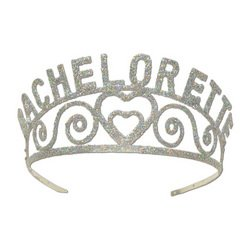 Glittered Bachelorette Tiara Party Accessory (1 count) (1/Pkg)