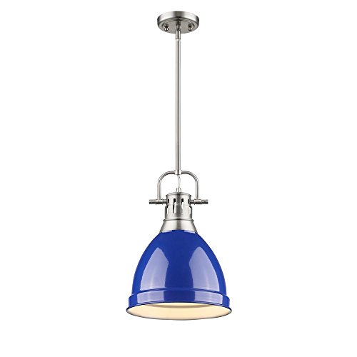Small Blue Glass Pendant Lights in US - 4