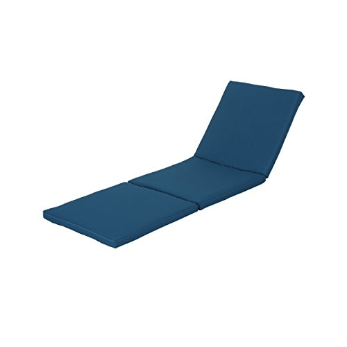 Great Deal Furniture Joyce Outdoor Blue Water Resistant Chaise Lounge Cushion Review