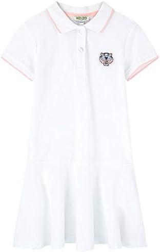 Kenzo White Kid Polo Shirt Dress