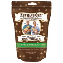 NEWMAN'S OWN ORGANICS DOG TREATS,TURKEY&SWT POT, 10 OZ