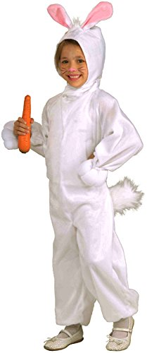 Forum Novelties Kids Fleece Bunny Rabbit Costume, Small, One Color