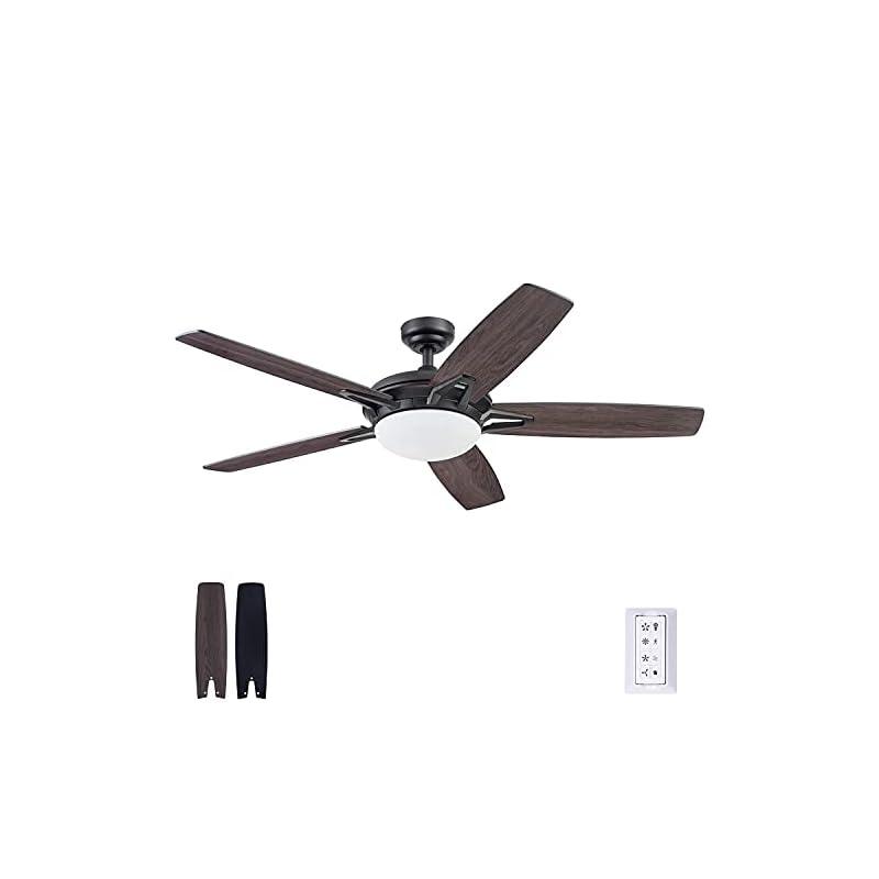 Prominence Home 51483-01 Clancy Ceiling Fan, 52, Matte Black