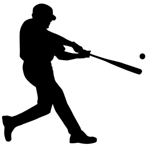 baseball silhouette wall decal - 3