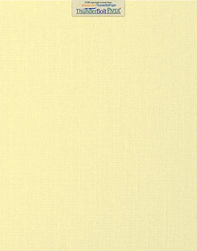 25 Ivory Linen 80# Cover Paper Sheets - 11