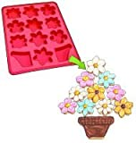 "Roshco ""Create and Celebrate"" Flower Basket Pull-Apart Cupcake Silicone Baking Pan"