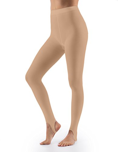 Stirrup Dance Tights (Grandeur Hosiery Women's Ladies Ultra Soft Stirrup Dance Ballet Tights Suntan B)