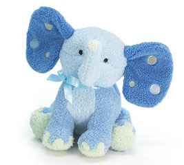 - Patrick Plush Elephant Rattle Blue 5-1/2