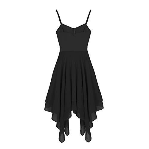 Clásico Baile Gimnasia Leotarto Gasa Ballet Ropa Falda Maillot Traje de de Vestido Negro de Elástico Mujer Agoky Danza f4wZqBZ