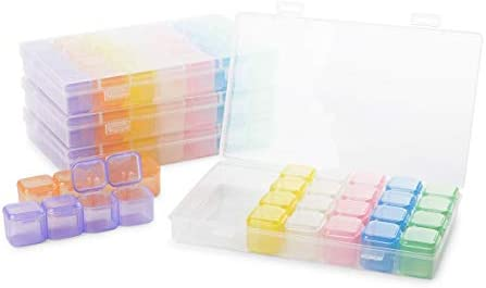 Diamond Painting Kit for Adults, Includes 4 Storage Cases and Tweezers (10 Pieces)