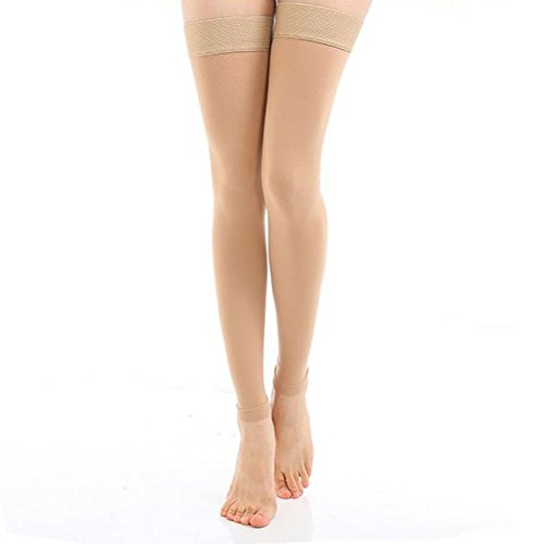 ctkcom-footless-compression-stockings-thigh-high-microfiber-medical-tight-socks-20-30mmhgbeiges