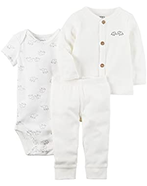 Carter's Baby 3-Piece Elephant Bodysuit Set