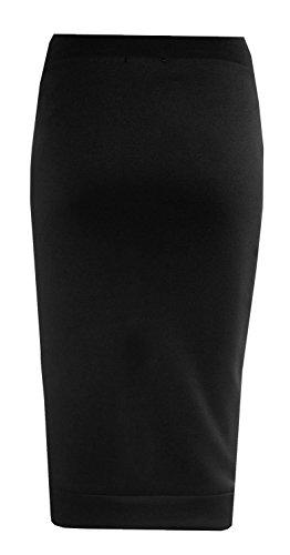 Forever Womens Celebrity Inspired Zebra Print Midi Pencil Skirt (10, Black) by Forever (Image #2)