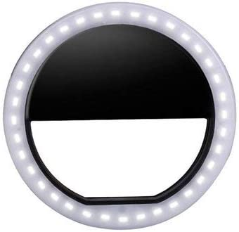 Ring Light Portable LED Ring Flashlight Camera Photography-Adapter for Mobile Phone