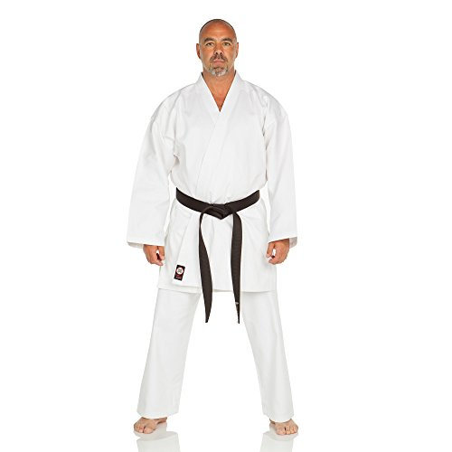 Ronin Karate Gi - Lightweight Student Karate Uniform - Professional Quality Made Kimono - Advanced 100% Cotton Martial Arts Kit Style Karate Training for Adults & Kids.(White/3) (The Best Karate Style)