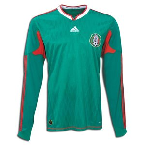 16c5effc793 Amazon.com : adidas Mexico Long Sleeve Home Jersey 09/11 (2XL) Green ...