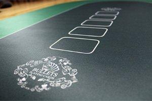 Panno da Poker Tappeto da Poker Copritavolo da Poker Copritavolo da Poker Professionale 160 x 80cm di Bullets Playing Cards