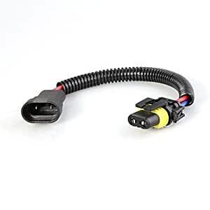 2pcs 9005 HB3 enchufes del arnés de cableado adaptador de extensión de cable para los faros