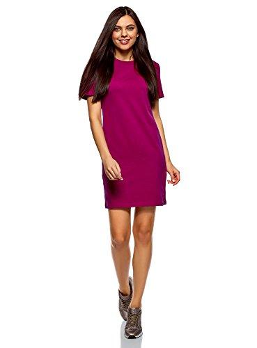 oodji Ultra Women's Straight Jersey Dress, Purple, 10