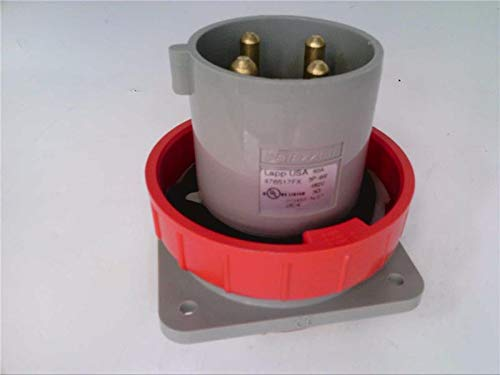 LAPP USA 476517FX Plug Inlet, Male, 480V, 60A, 4P