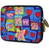 Amzer 10.5-Inch Designer Neoprene Sleeve Case Pouch for Tablet, eBook and Netbook - Love Network (AMZ5212105)